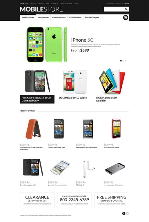 mobile store virtuemart template 50538