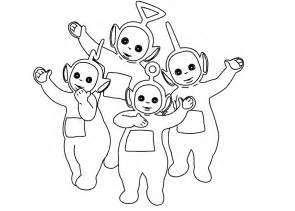 cartoon teletubbies az coloring pages