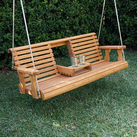poarch swing porchgate amish heavy duty 700 lb rollback console treated