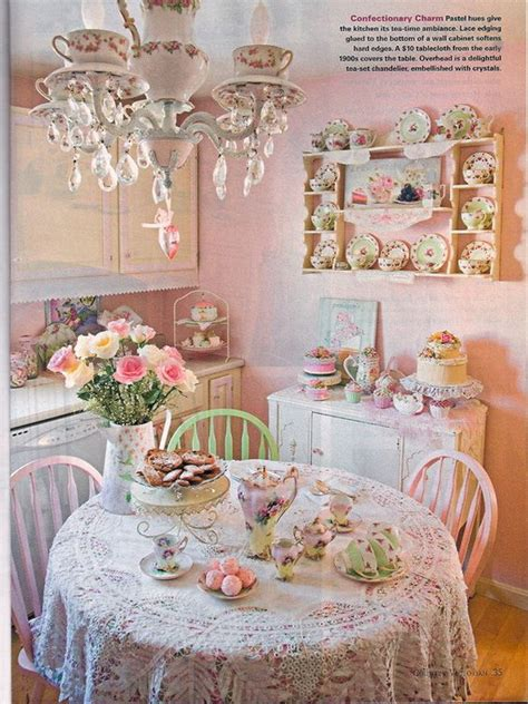 Decoration Ideas For Kitchen Tea 35 Beautiful Shabby Chic Dining Room Decoration Ideas
