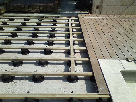 Bpi Fabricant De Plots R 233 Glables Pour Tous Types De Terrasse Composite Sur Lambourde Bois