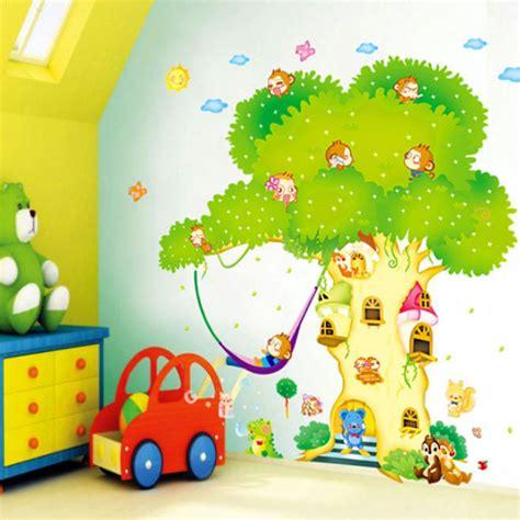 Wandtattoo Kinderzimmer Haus by Details Zu Xxxl Wandtattoo Baum Waldtier Tiere Haus