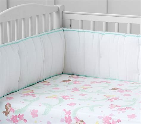 mermaid baby bedding mermaid crib fitted sheet pottery barn kids