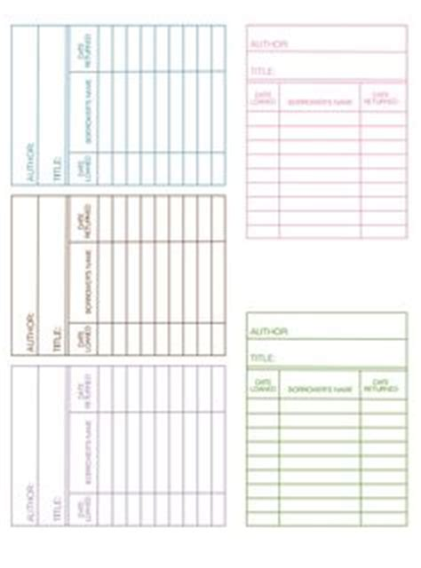 blank library card template printable index card templates 3x5 and 4x6 blank pdfs