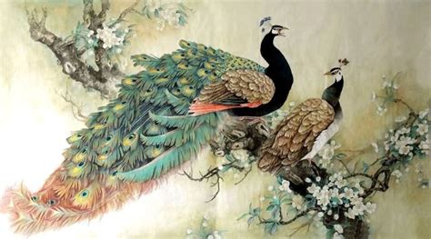 Beautiful Kitchen Canisters Chinese Peacock Art Images