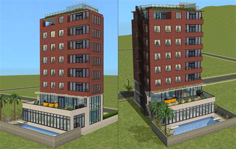 Sims 2 Apartment Mods Mod The Sims Downtown Highrise Apartments Almost No Cc