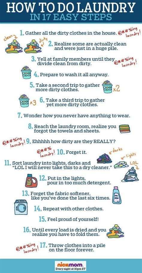 how to do laundry in 17 easy steps being mommy pinterest