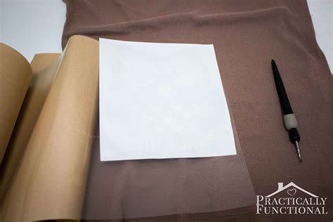 How To Make A Stencil Without Transfer Paper - make your own spray shirt in just 10 minutes