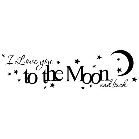 i love you to the moon and back art i love you to the moon and back vinyl wall by