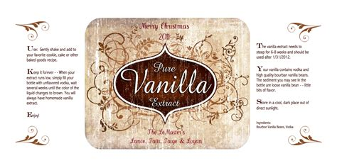 vanilla extract label template 404 not found