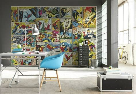 marvel home decorating superhero interior design marvel comic books revmodern