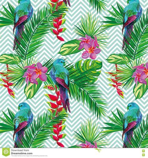 abstract jungle pattern beautiful seamless tropical jungle floral pattern