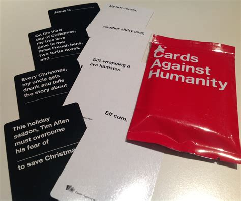Gift Card Packs - cards against humanity holiday packs personalized playing cards
