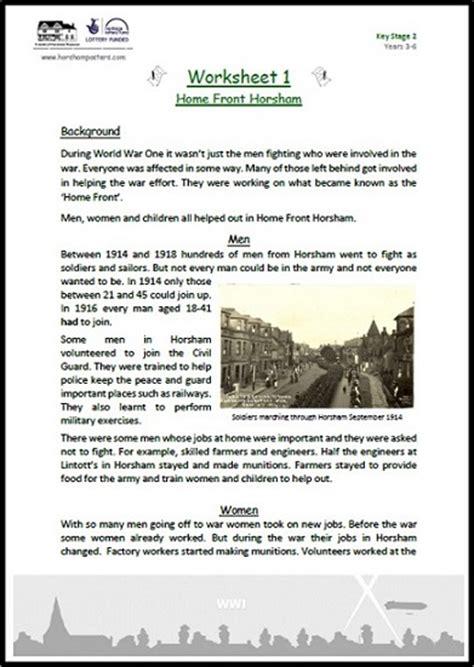 Wwi Worksheets by World War 1 Worksheets Worksheets Releaseboard Free