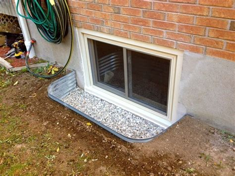 windows basement window wells with fiber glass and plastic