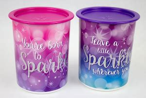Sparkle Canister Tupperware in mold decorating association and spe decorating