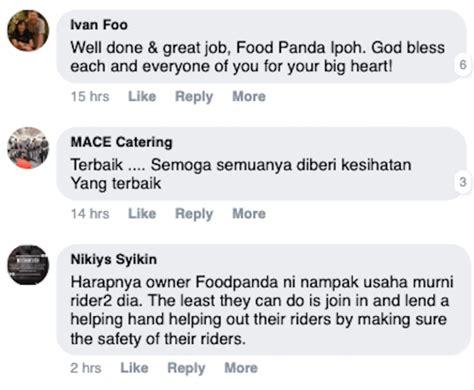 rider foodpanda ipoh kumpul duit gaji bagi makan
