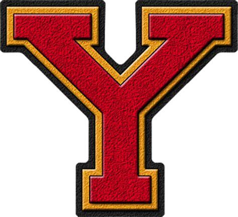 presentation alphabets cardinal gold varsity letter y