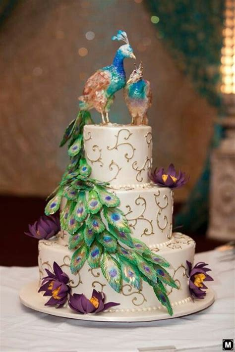 40 best indian wedding cakes images on Pinterest   Peacock