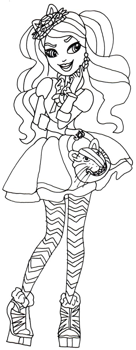 ever after high coloring pages darling charming free printable ever after high coloring pages kitty