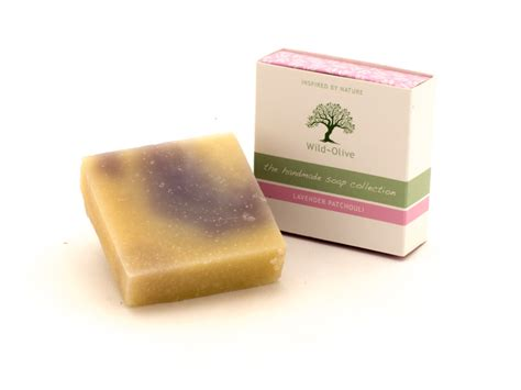 Luxury Handmade Soap - 100g lavender patchouli vanilla luxury handmade soap
