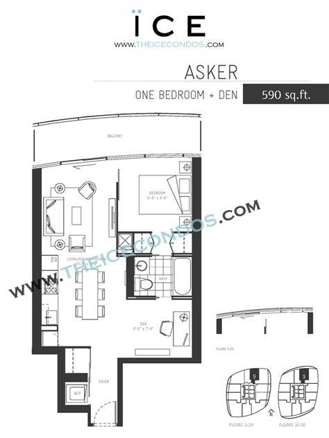 1 Bedroom Floor Plans Ice Condos For Sale Rent