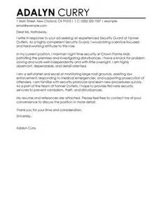 security guard cover letter examples law enforcement
