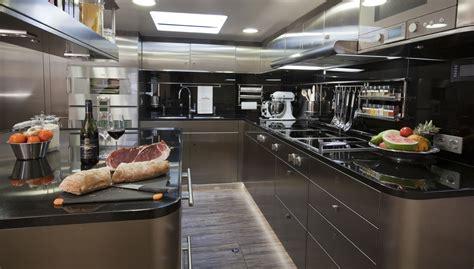 Yacht Galley Layout | mega yachts interior kitchen yacht zefira galley