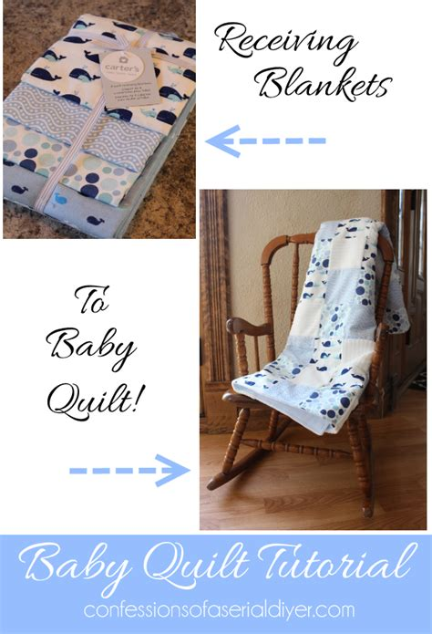 Quilted Blanket How To Make A Baby Quilt From Receiving Blankets