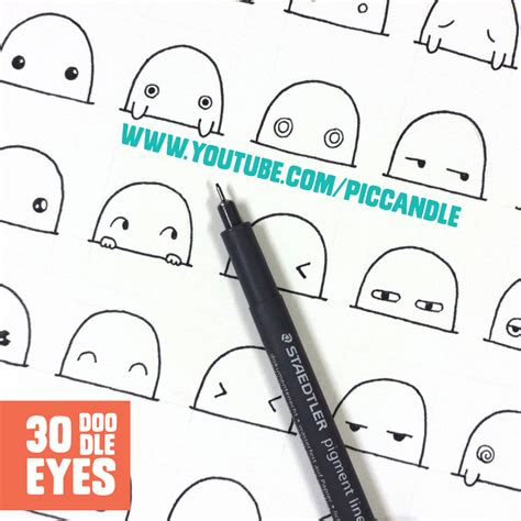 doodle drawings tutorial 30 kawaii to doodle by piccandle on