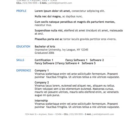 simple modern resume template for pages free iwork templates