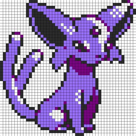 espeon pokemon sprite perler bead pattern bead sprite