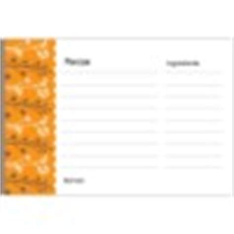 Avery 3381 Recipe Card Template by Template