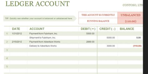 Credit Debit Format Excel Ledger Template With Debits And Credits Excel Accounting Templates General Ledger