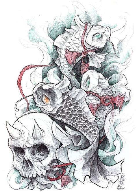tattoo koi sketchbook shigeki zumi tattoo sketchbook 010 by fydbac on deviantart
