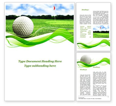 golf templates free for golf word template 09807 poweredtemplate
