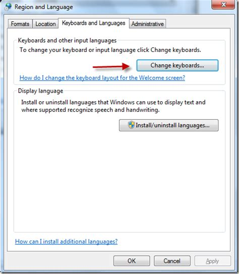 change keyboard layout us windows 7 how to type spanish words and accents by changing keyboard
