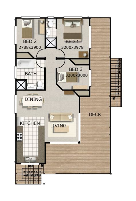 three room set house design australian 3 bedroom hi set with games room house plan