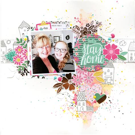 instagram scrapbook layout let s stay home scrapbook layout