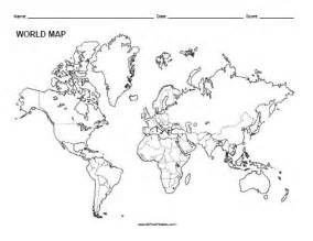 Blank Outline Map Of The World Printable by Printable Blank World Maps