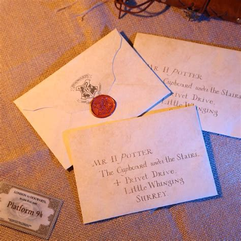 Harry Potter Acceptance Letter Date harry potter hogwarts acceptance letter package five