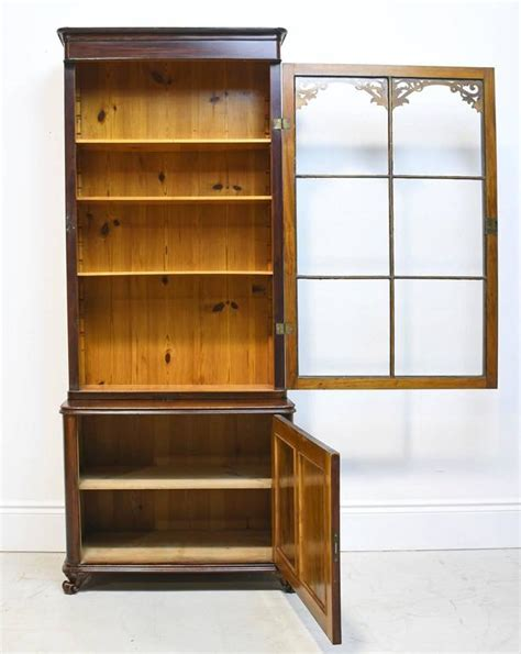 Narrow Bookcases For Sale Narrow 19th Century Bookcase Or Vitrine With Cabinet In