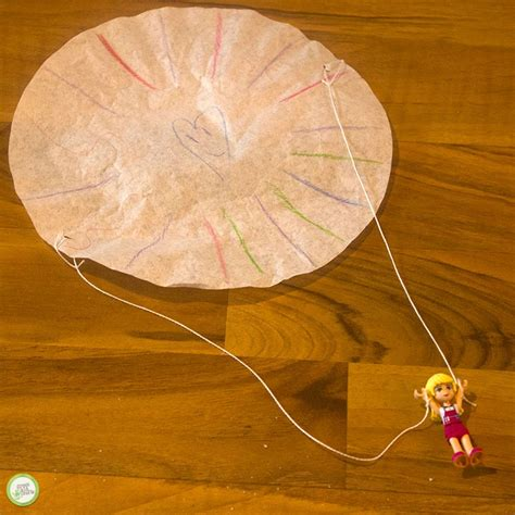 How To Make A Paper Parachute - how to make a diy parachute for small toys green kid crafts