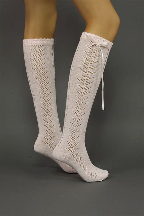 Lace Ribbon Socks sock cotton sock lace socks with ribbon by dayfitfashion