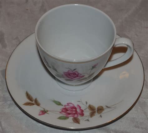 vintage tea cup and saucer roses made in china ebay