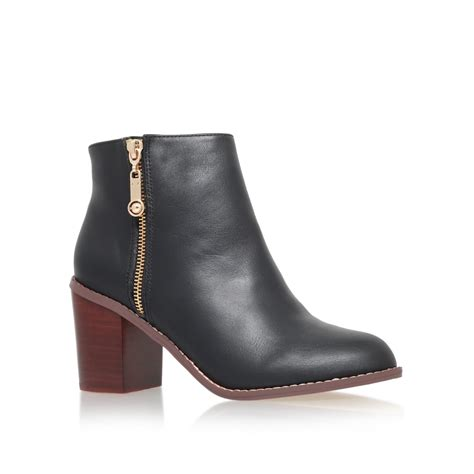 carvela kurt geiger tag mid block heel ankle boots in