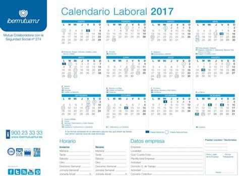 Calendario Rellenable 2017 Calendario Laboral 2017