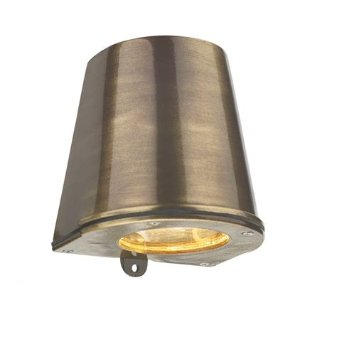 led cast brass flush fitting wall light ip44 safe for use