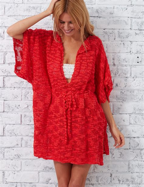 cover up pattern free patons beach cover up knit pattern yarnspirations