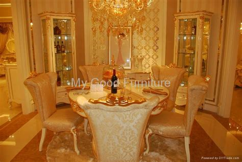 Elegant Home Design Ltd Products by Solid Furniture High Gloss Dining Room Gold Foil Decorate